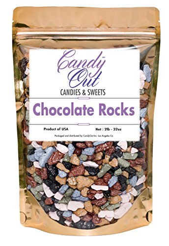 CandyOut Chocolate Rocks 2 Pound Chocorocks Nuggets in Sealed Stand Up Bag -