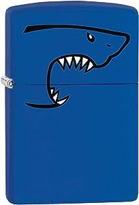 Zippo Lighter: Shark Bite - Royal Blue Matte 80187