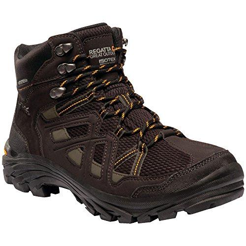 Regatta Mens Burrell II Waterproof Seam Sealed Nubuck Walking Boots Peat/Treetop