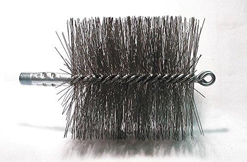- Flue Brush, Dia 4 1/2, 1/4 MNPT, Length 8