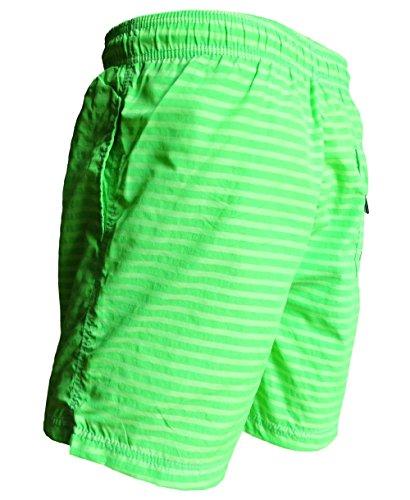 Baileys modische Freizeit Schwimm Short Badehose neongrün Streifen Gr. M bis 3XL 711014-7