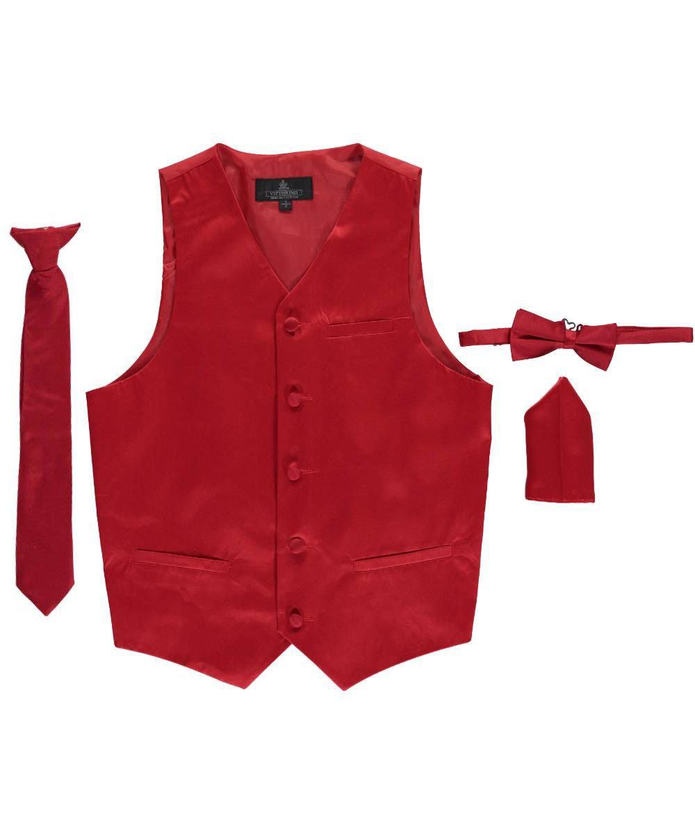 Vittorino Big Boys' 4-Piece Vest & Accessories Set