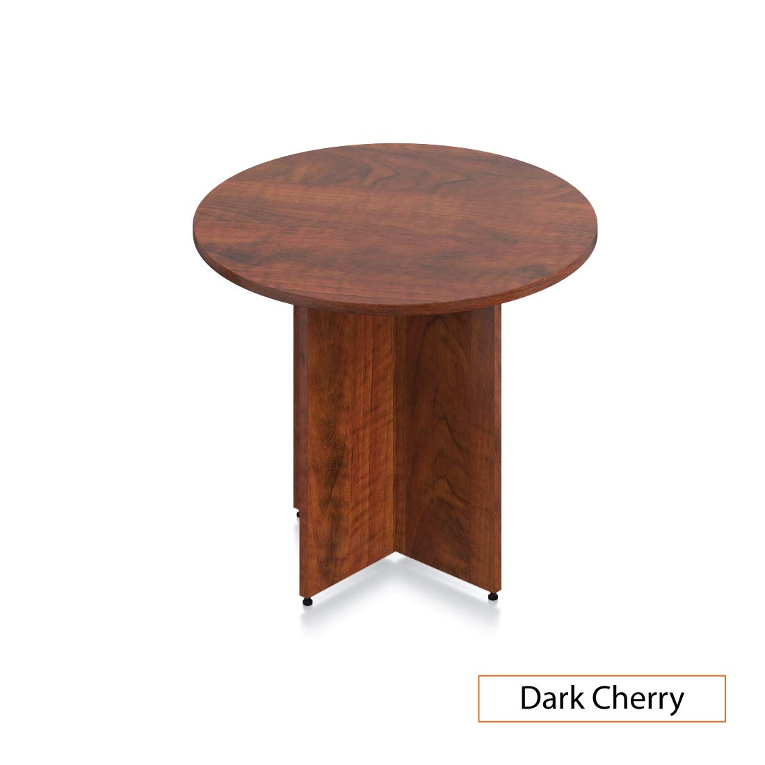 GOF 36'' Round Table (36W x 36D x 29.5H), Cherry, Espresso, Mahogany, Walnut (Dark Cherry) by GOF