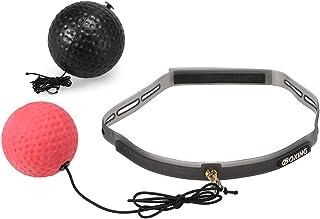 Lixada Boxe Reflex Ball 2 Niveau Ballon Pouching Bande de Sueur Sports de Combat Fitness Entraînement de Vitesse Réaction de Coordination des Yeux