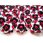 100-Silk-Red-Black-White-Roses-Flower-Head-175-Artificial-Flowers-Heads-Fabric-Floral-Supplies-Wholesale-Lot-for-Wedding-Flowers-Accessories-Make-Bridal-Hair-Clips-Headbands-Dress