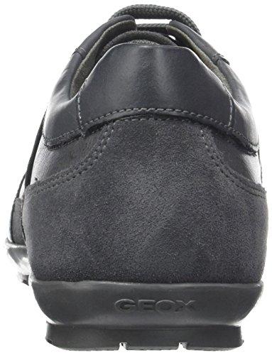 Geox Uomo Symbol a, Oxford para Hombre Gris (Anthracite)