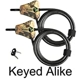 Master Lock – Python Trailer Camera Adjustable Camouflage Cable Locks 8418KA-2 CAMO
