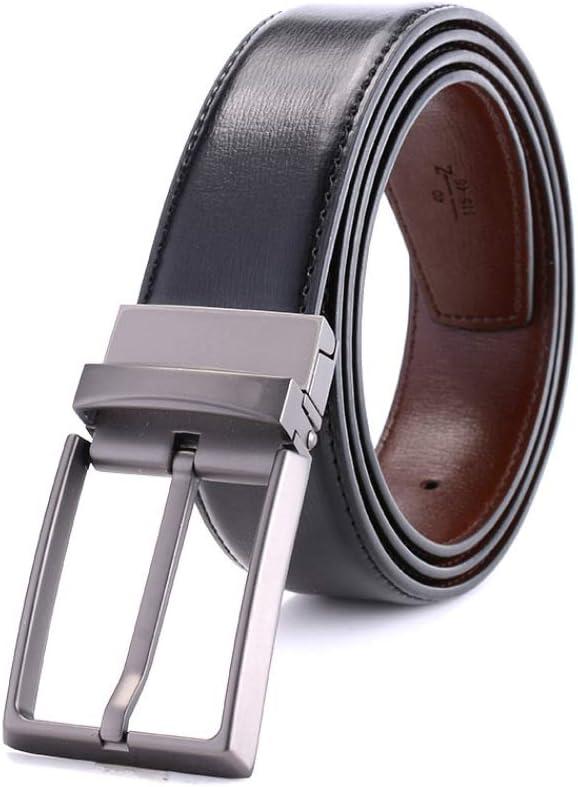 longhua Cinturón de Cuero para Hombre con Hebilla de Pasador de Regalo navideño para Familia y Vie