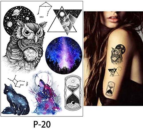 3 Piezas calcomanía de Belleza Etiqueta engomada del Tatuaje a ...