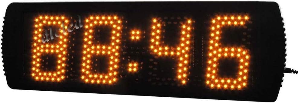 シンプルな大型LEDフィットネストレーニングカウントダウンジムインターバルタイマー壁掛け時計リモコン付き 多機能のアウトドアスポーツタイマー (色 : ブラック, サイズ : 49X16X4CM) ブラック 49X16X4CM