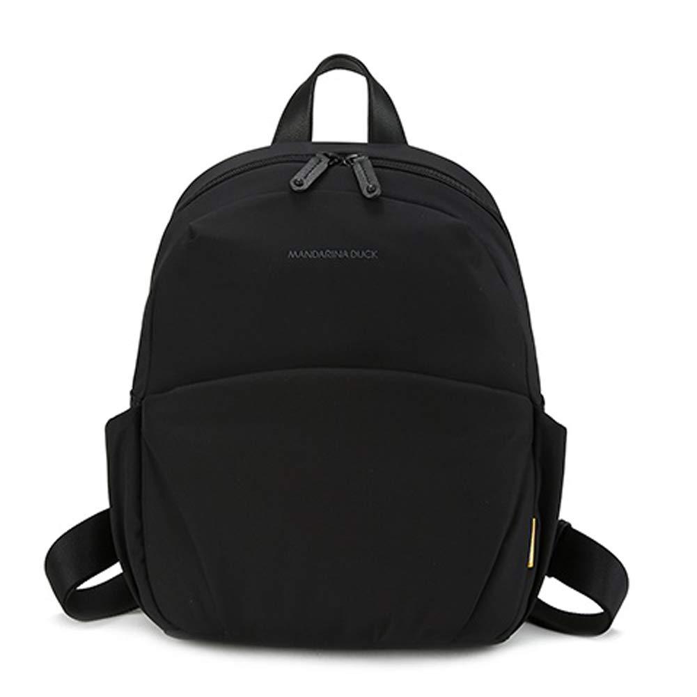 マンダリナダックレディースSUT0151ハンドバッグバックパックカジュアルスクールバッグナイロン95.4%レザー(牛革)4.6%ブラックカラー Mandalina Duck Women's SUT0151 handbag Backpack Casual School Bag Nylon 95.4% Leather (cowhide)4.6% Black Color [並行輸入品] B07S6ZF76V