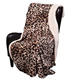Safari Cheetah Skin Sherpa Mink Throw Light Weight Sherpa Luxury Throw Cheetah Print 50 inch x 70 incH