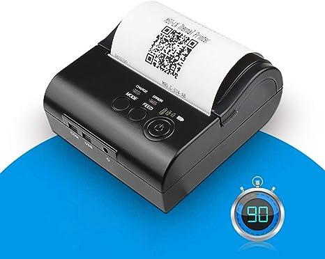 FFXENG Impresora de Recibos Térmica 80mm Mini Bluetooth Portátil ...