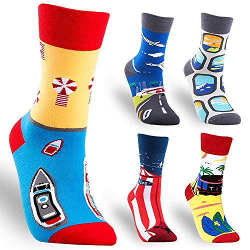 Men's Novelty Funny Crazy Crew Socks Colorful Funky for sale  Delivered anywhere in USA