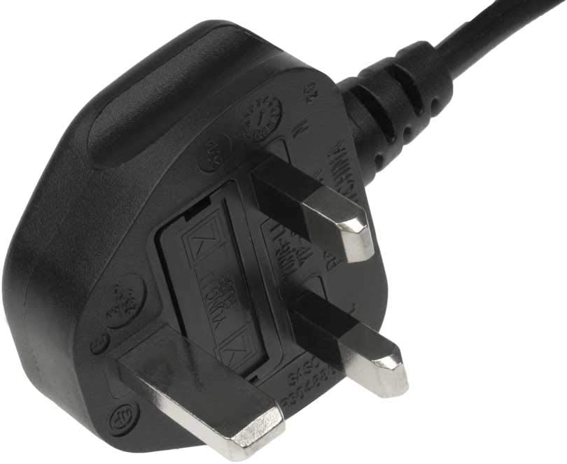 to C7 UK Fused Plug SF Cable 6ft BS1363A