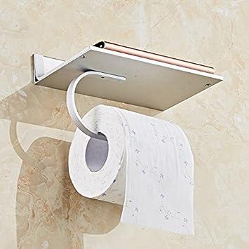 Portarrollos para papel higiénico USDFJN Portarrollos,papel,Bandeja de tocador,Montado en la pared de la perforación rosa de oro