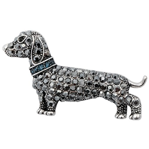 Valentine's Day Themed Costume (Szxc Jewelry Valentine Day Enamel Crystal Dog Dachshund Puppy Jewelry Brooch Pin)