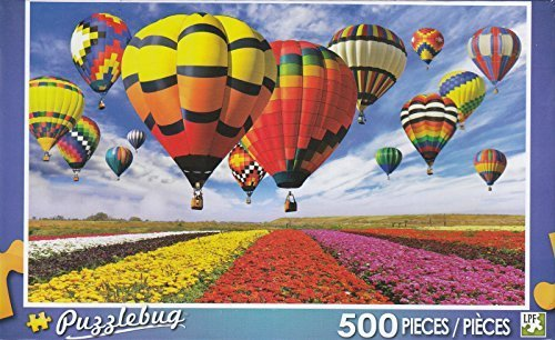Puzzlebug 500  colorful Hot Air Balloons and Flower Field by LPF by LPF
