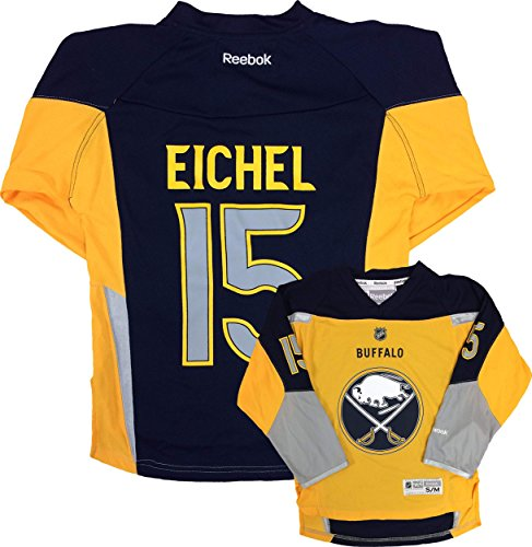 Jack Eichel Buffalo Sabres #15 Yellow Alternate Replica Youth Jersey (Large/X-Large)