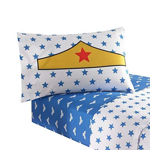 Warner Brothers Wonder Woman 'I'm Wonder Woman' Bedding Full Sheet Set (Wonder Woman Bedding Full)