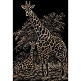 "Bulk Buy: Royal Brush Copper Foil Engraving Art Kit 8""X10"" Giraffe & Baby COPF-16 (3-Pack)"