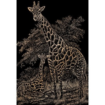 Royal & Langnickel Bulk Buy Royal Brush Copper Foil Engraving Art Kit 8 inch x 10 inch Giraffe & Baby COPF-16 (3-Pack)