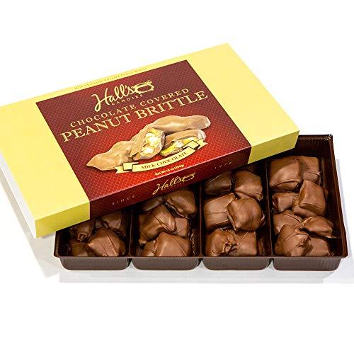 Hall's Milk Chocolate Covered Peanut Brittle, 1 Pound (Peanut Chocolate With Brittle)