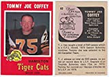 1971 OPC Tommy Joe Coffey Card #62 Hamilton Tiger Cats West Texas State