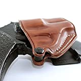 Premium Leather OWB Paddle Holster Open Top Fits