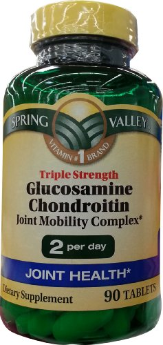 Spring Valley Glucosamine Chondroitin Triple Strength Joint Mobility Complex 90ct