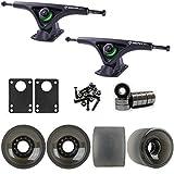 TGM Skateboards Bear 852 Black Longboard Trucks Wheels Package 70mm Sliding Wheels Black