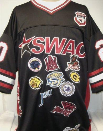 new styles 2bd34 617b0 Big Boy Gear 2XL- Black SWAC Southwestern Athletic Conference Championship  Team logo Heavyweight Throwback Football Jersey