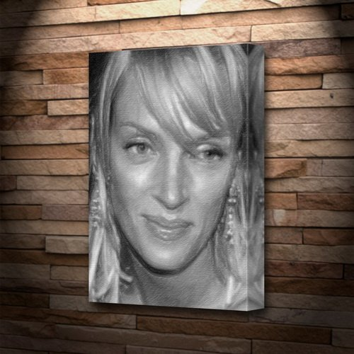 UMA THURMAN - Canvas Print (LARGE A3 - Signed by the Artist) #js002 -