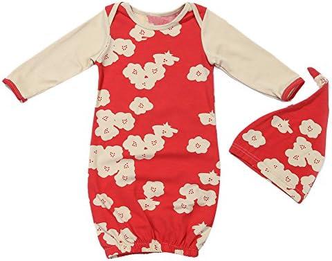 domybest 2pcs bebé recién nacido infantil manga larga floral impreso ...