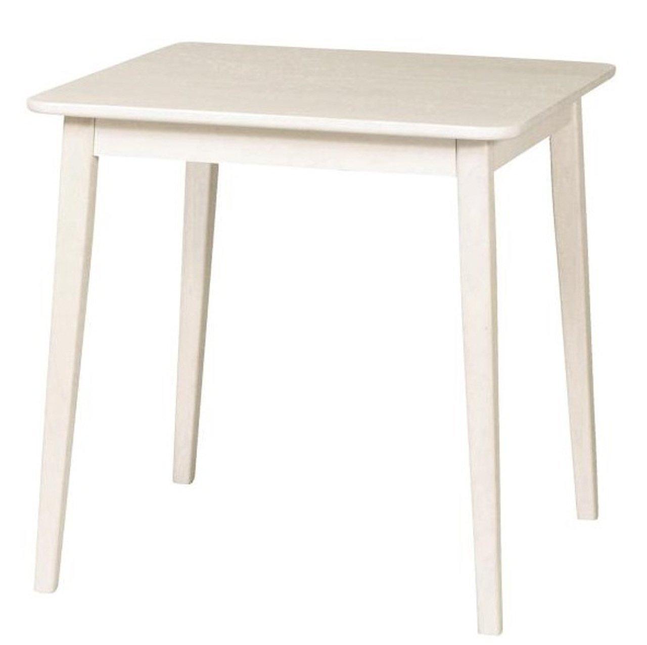 SINAPP ダイニングテーブル アンティーク調シリーズ 2人用 コンパクト センターテーブル SIK0586 ホワイト B07BFLM1CW