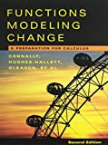 Functions Modeling Change, Textbook and Solutions Manual 9780471484370