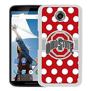 Custom Luxury Cover Case With Ohio State Buckeyes White Google Nexus 6 Case