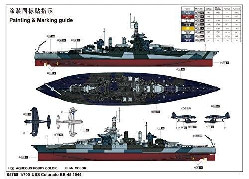 トランペッター 1/700 米海軍 コロラド級戦艦 BB-45 コロラド 1944【並行輸入品】