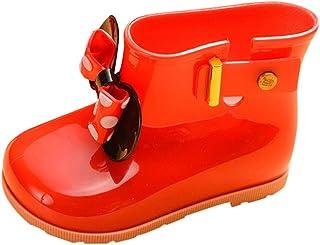 ✿luoluoluo ✿ Chaussons Bébé Enfants Enfants Bébés Filles Bowknot Dot Caoutchouc Étanche Étanche Bottes Chaussures De Pluie Chaussures de Noel Bébé Fille Chaussures Bébé Garçon