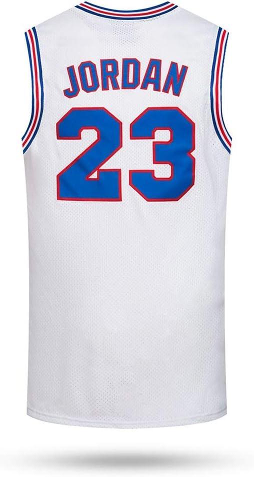 Auart Mens Baloncesto Jersey # 23 Michael Jordan Espacio Tune escuadra Jam Nueva Temporada cinematogr/áfica Versi/ón Cl/ásica Edici/ón Conmemorativa