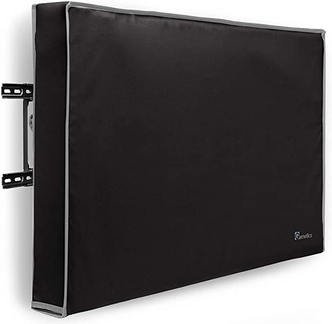 Universal Weatherproof Protector for Flat Screen TVs Black Fits Most TV Mounts and Stands Outdoor TV Cover 80-85 inch