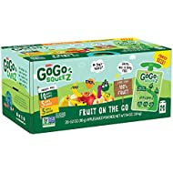 GoGo squeeZ Applesauce on the Go, Variety Pack (Apple Apple/Apple Banana/Apple Mango), 3.2 Ounce (20 BPA Free Pouches), Gluten Free, Vegan Friendly, Unsweetened, Recloseable (Package May Vary)