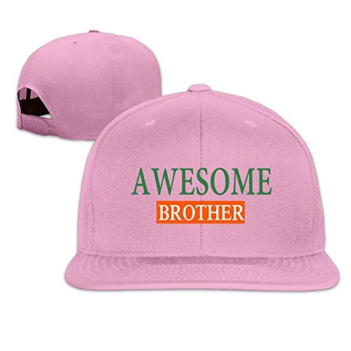 Runy Custom Awesome Brother Adjustable Baseball Hat & Cap Pink