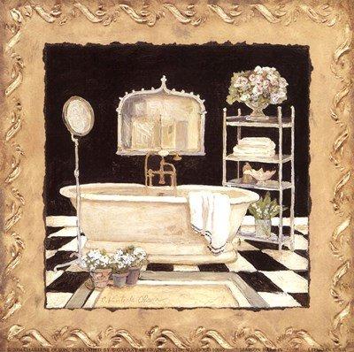 Maison Bath IV by Charlene Winter Olson - 6x6 Inches - Art Print Poster