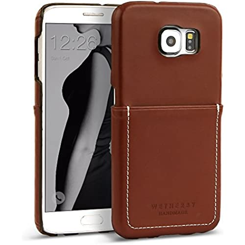 Galaxy S7 Case, DESIGNSKIN WETHERBY POCKET Bar-Type : 100% Handcrafted ID Credit Card Storage Genuine Cow Leather Simple Unique Luxurious Case Sales