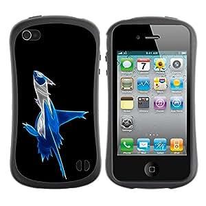"Hypernova Slim Fit Dual Barniz Protector Caso Case Funda Para Apple iPhone 4 / iPhone 4S [Abstract Blue Splash""]"