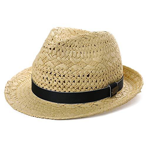 - Mens Summer Hats Fedora Panama Straw Womens Kentucky Derby Packable Cuban Havana Party Ladies Beige Large Black Band