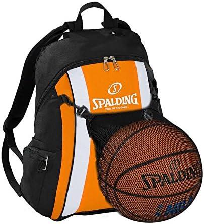 Spalding – Mochila de baloncesto, color naranja/negro con pelota ...