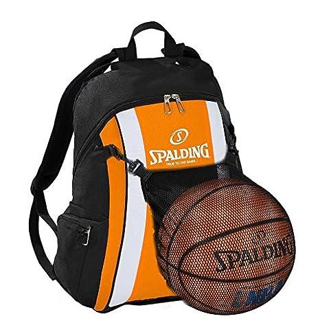 Spalding - Mochila de baloncesto, color naranja/negro con pelota ...
