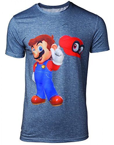 Nintendo - Super Mario Odyssey - T-Shirt   Original Nintendo Merchandise   Super Mario